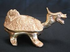 Brass Metal Dragon Turtle Statue