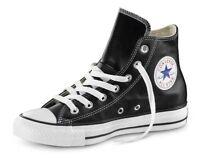 Scarpe Converse All Star Nere in Pelle Classic Black suola bianca