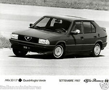 Alfa Romeo 33 1.7 Quadrifoglio Verde Original Press Photograph 1987