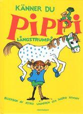 Buch Känner Du Pippi Langstrumpf Långstrump,SCHWEDISCH,Astrid Lindgren NEU