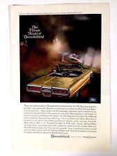 1965 Ford Thunderbird Convertible Print Ad Gold