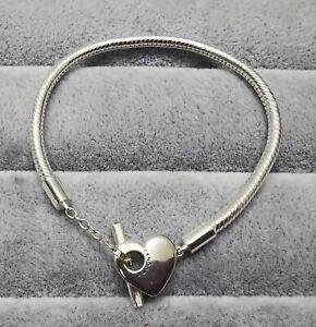 Pandora 599285C00 Moments Herz T-Verschluss Gliederarmband 18 cm ALE S925