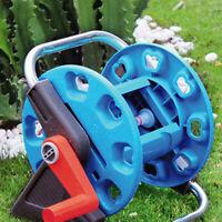 Portable Wall-Mount Garden Pipe Water Hose Reel Organizer Handheld Cart Outdoor