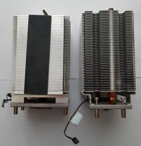 A set of Apple Mac Pro 2006 1.1 A1186 CPU Heatsink