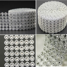 DIAMOND MESH WRAP ROLL CRYSTAL RHINESTONE SPARKLE BLING RIBBON/WEDDING DECOR