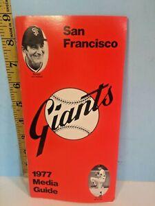 1977 San Francisco Giants Baseball Media Guide