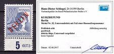 Berlin 32 Unterrand Hausauftragsnummer HAN Rotaufdruck Kurzbefund Schlegel BPP