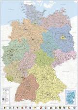 Deutschlandkarte XXL Premium Poster Plakat Politische Landkarte 100 x 140 cm