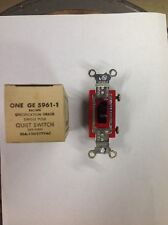 Lot of 10 GE 5961-1 Single Pole Quiet Switches 20A-120/277Vac