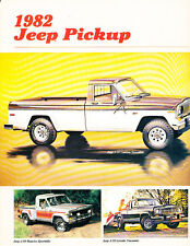 1982 Jeep J-10 J10 Truck Sales Brochure Folder - Honcho LAredo