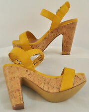 NWB! WOMEN'S APT. 9 GOLDEN YELLOW HIGH HEELS BIG BUCKLE SIZE 8 MSRP $59.99