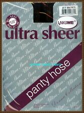 ultra sheer panty hose pantyhose stocking Queen size  JET BROWN  40