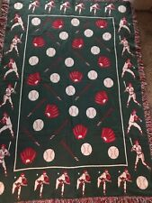 Usa Made Nwt The Rug Barn Baseball Throw Rug