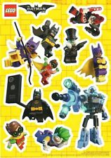 LEGO MOVIE BATMAN ROBIN STICKERS 11 PCS ON  PAPER SHEET OFFICIAL LICENSED