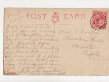 Miss J Burton Taverham Hall Norwich 1919 Postcard 743a