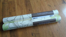 Two Rolls Of Harlequin Spirit Boutique Green / Cream Floral Trailing Wallpaper