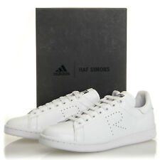 d828ccd1319847 Adidas Raf Simons Stan Smith White Black Leather Sneakers - Mens 7 (S81167)