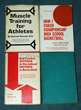 Vintage Basketball How-To 4 Book Lot Hardcovers Defense Discipline Ball Rare OOP
