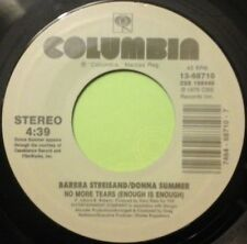 "BARBRA STREISAND/DONNA SUMMER - NO MORE TEARS 7"" VINYL 1970s DANCE DISCO POP NM"