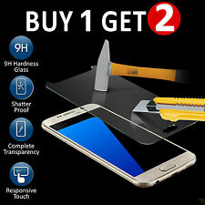 100% REAL TEMPERED GLASS FILM LCD SCREEN PROTECTOR FOR SAMSUNG GALAXY S7 - NEW