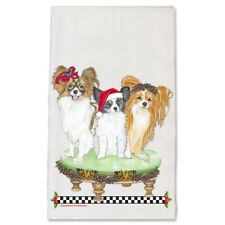 Papillon Dog Christmas Kitchen Towel Holiday Pet Gifts
