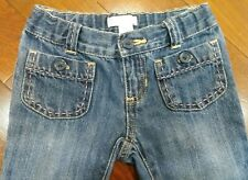 Old Navy Girls Bell Bottoms Jeans Size 4T Adjustable Waist Medium Blue In EUC