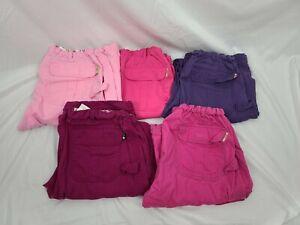 Lot Of 5 Koi by Kathy Peterson Women's Scrub Pants sz S