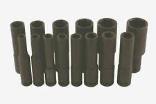Extra Deep Long Air Impact Socket Set 1/2 Drive 14pc 10mm - 32mm  (120mm Long)