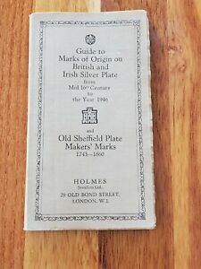 Vintage 1947 Guide to Marks of Origin on British and Irish Silver Plate VGC