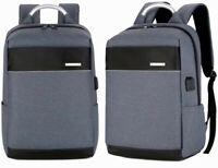 Men/Womens Laptop Notebook Backpack+USB Charging Business School Travel bag