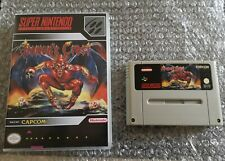 DEMON'S CREST  - SNES SUPER NINTENDO RARE - ORGINAL - FAH
