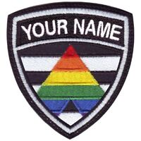 Bear Gay Pride Flag Custom Crest Flag name Embroidered Patch