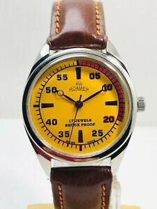 Vintage Roamer Hand Winding Wrist Watch Men's FHF Movement ST-96 Swiss Made