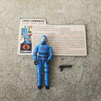 Vintage GI Joe Figure 1983 Cobra Commander (BLUE) complete with file card