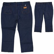 Maverick Mens Jeans 48x28 (Tag 48x32) Regular Fit Dark Blue with Short Inseam