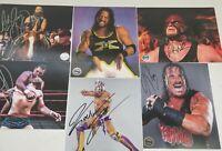Pro Wrestling Crate 6 autograph lot WWE AEW ROH TNA NJPW NXT COA
