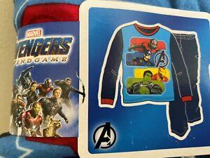 NWT Avengers End Game 2 Piece Fleece Pajama PJ Set Hulk Antman Captain America
