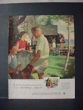 1952 Baseball Douglas Crockwell US Beer Brewers #69 in Series VTG Print Ad 11185