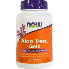 Now Foods Aloe Vera Gels 100 Softgels FREE Shipping Made in USA FRESH