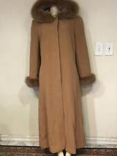 Marvin Richards outerwear Women's Winter hood fox fur lambswool long coat size14