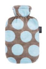 Fashy Wärmflasche mit Flauschbezug braun /blau 6721328