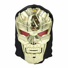Mens Adults Dark Robot Face Mask Sci-fi Movie Film Space Superhero Villain Baddy