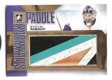 Evgeni Nabokov 2013-14 ITG Stickwork GOLD Game-Used Paddle 1/1