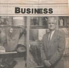 Lawrence Pugh Autographed Newspaper Article 1993 Businessman / VF Corporation