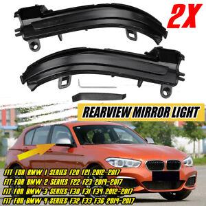 Dynamic Turn Signal Sequential Mirror Light For BMW F20 F21 F22 F30 X1 i3 14-17