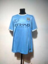 Manchester City soccer jersey Nike 2013/2014 Size XL match worn signed Aguero