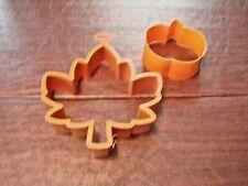 "Maple Leaf 5"" + pumpkin 2.5"" Fall Autumn Cookie Cutters SET OF 2"