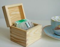 Small Wooden Tea Chest Trinket Jewellery Box Storage Craft Decoupage