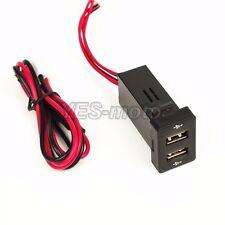 USB Port Dashboard LED Voltmeter 5V 2.1A Charger For Toyota RAV4 Sequoia Sienna