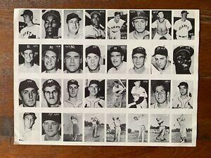 1955 All-American Sports Club UNCUT SHEET #449-480 Baseball Golf - BABE ZAHARIAS